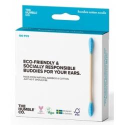 Humble Brush Cotons tiges naturels bambou Bleu x100  produit à base de Coton biologique Les Copines Bio
