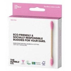 Humble Brush Cotons tiges naturels bambou Violet x100 produit à base de Coton biologique Les Copines Bio