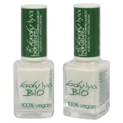 LadyLya Bio Vernis à Ongles Blanc Lait 12ml x1 Produit de maquillage pour les ongles Les Copines Bio