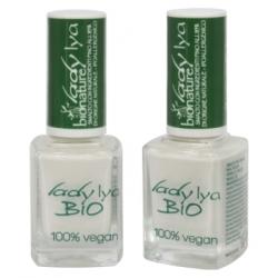 LadyLya Bio Vernis à Ongles Blanc nacré 12ml x1 Produit de maquillage pour les ongles Les Copines Bio