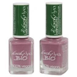 LadyLya Bio Vernis à Ongles Mauve laqué 12ml  Produit de maquillage pour les ongles Les Copines Bio