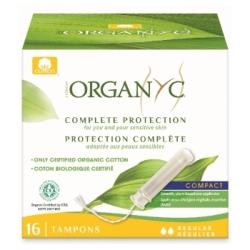 Organyc Tampon régulier avec applicateur compact Boîte de 16 0.0gr Produit d'Hygiène féminine Les Copines Bio