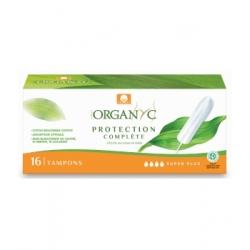 Organyc Tampons Super Plus sans applicateur Boîte de 16 Produit d'Hygiène féminine Les Copines Bio