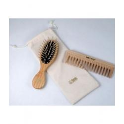 Tek Set de coiffure Brosse et Peigne Naturel  produit de Soins capillaires Les Copines Bio