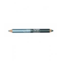 Purobio Cosmetics Duo crayon night : Kajal turquoise et Fard à paupière vert émeraude 2.8gr produit de maquillage pour les