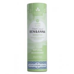 Ben & Anna Déodorant Naturel Sensitive Lemon Lime 60g  produit d'hygiène et déodorant Les Copines Bio