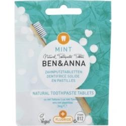 Ben & Anna Dentifrice avec fluor 100 comprimés 36g  produit d'hygiène buccal et de soins dentaires Les Copines Bio