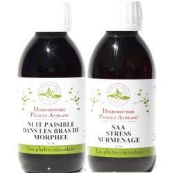 Herboristerie De Paris Coffret Pack Stress Sommeil phyto concentrés 2x200ml  Complément alimentaire Les Copines Bio