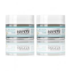 Lavera Crème de jour anti rides Lot de 2x50ml au coenzyme Q10 Basis sensitiv  produit de soin peaux normales Les Copines