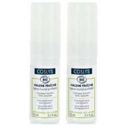 Coslys Lot de 2 Spray Haleine Fraiche à la menthe 15ml  produit de soins bucco-dentaires Les Copines Bio