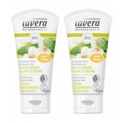 Lavera Lot de 2 crème équilibrante matifiante thé vert bio 2 x 50ml  produit de soin Peau mixte Les Copines Bio