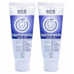 Eco Cosmetics Lot de 2 Dentifrice fraîcheur et soin à la Nigelle 2 x 75ml produit de soins bucco-dentaires Les Copines B