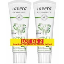 Lavera Lot de 2 Dentifrice complete care menthe au fluor 2 x 75ml  produit de soins bucco-dentaires Les Copines Bio