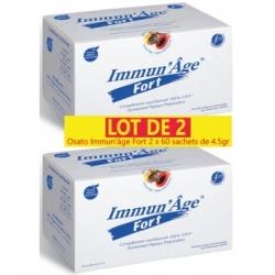 Osato Lot de 2 Immun'âge Fort 2 x 60 sachets de 4.5gr Complément alimentaire Les Copines Bio