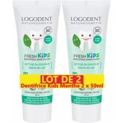 Logona Lot de 2 Dentifrice Kids Menthe douce 2 x 50ml  produit de soins bucco-dentaires Les Copines Bio