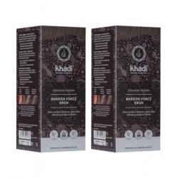 Khadi Lot de 2 coloration végétale Marron Foncé Brun 100gr  produit de soin capillaire Les Copines Bio