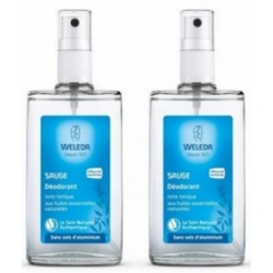 Weleda Lot de 2 déodorant spray Sauge 2 x 100ml déodorant naturel et bio Les Copines Bio