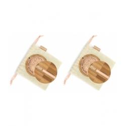Zao  Lot de 2 Mineral Silk beige clair 501 2 x 15gr  produit de maquillage minéral pour le Teint Les Copines Bio