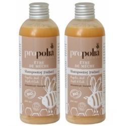 Propolia Lot de 2 shampoing traitant Propolis miel argile cade 2 x 200ml produit de soin capillaire Les Copines Bio