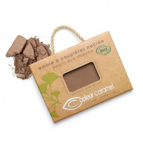 Couleur Caramel Ombre à paupières 67 Chocolat cuivré nacré 2.5gr maquillage mineral les copines