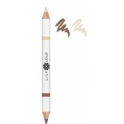 Lily Lolo Crayon à sourcils duo clair 1.5g produit de maquillage pour les yeux Les Copines Bio