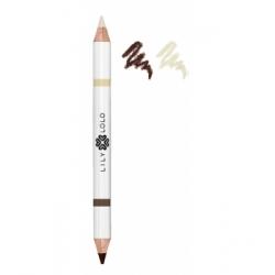 Lily Lolo Crayon à sourcils duo médium 1.5g  produit de maquillage pour les yeux Les Copines Bio