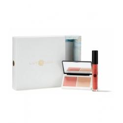 Lily Lolo Coffret Noël Peachy Nudes collection  produit de maquillage pour le teint Les Copines Bio