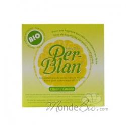 Per Blan Dentifrice Per Blan au citron 30g  produit de soins bucco-dentaires Les Copines Bio
