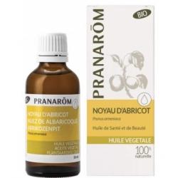 Pranarôm huile végétale de Noyau d'Abricot Flacon verre 50ml  produit de soins visage et corps à base d'huiles végétales Les Cop
