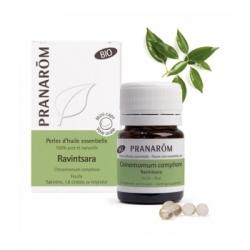 Pranarôm Perles d'huile essentielle Ravintsara Bio 60 perles produit d'aromathérapie Les Copines Bio