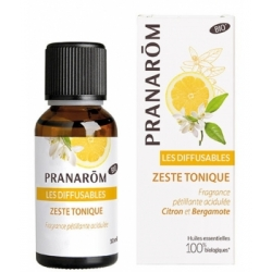 Pranarôm Les diffusables Zeste tonique 30ml produit d'aromathérapie Les Copines Bio