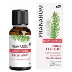 Pranarôm Les diffusables Force et vitalité 30ml  produit d'aromathérapie Les Copines Bio