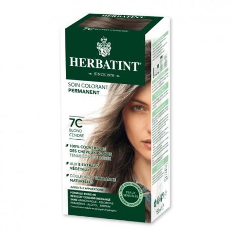 Herbatint Coloration blond cendré 7C - 150 ml coloration capillaire les copines bio