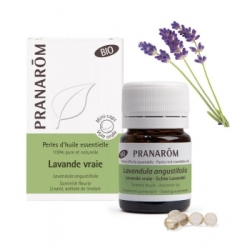 Pranarôm Perles d'huile essentielle Lavande vraie Bio 60 perles  produit d'aromathérapie bio Les Copines Bio