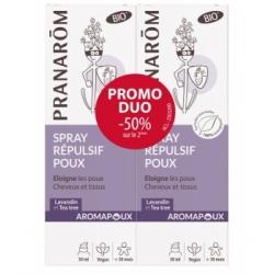 Pranarôm Spray répulsif poux 2x30ml Aromapoux  produit de soin capillaire Les Copines Bio