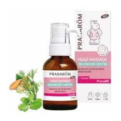 Pranarôm Huile de massage Reconfort ventre bio PRANABB 30ml  produit de soin et de massage pour bébé Les Copines Bio