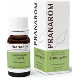 Pranarôm Lemongrass Flacon compte gouttes 10ml  produit d'aromathérapie bio Les Copines Bio