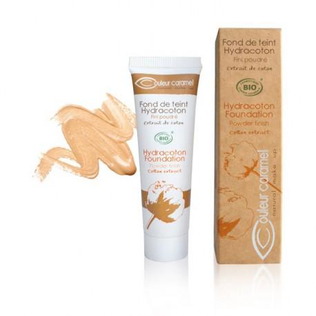 Couleur Caramel Fond de teint Hydracoton abricot n°13 - 30 ml maquillage mineral les copines bio