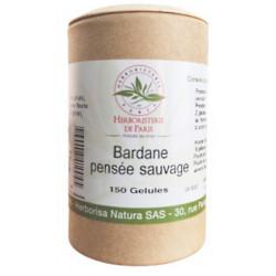 Herboristerie de Paris bardane pensée sauvage 150 gélules végétales les copines bio