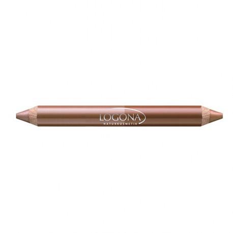 Logona Rouge à lèvres duo crayon bois N°4 beige 2.98gr maquillage bio les copines bio