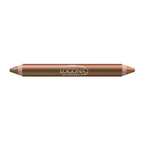 Logona Rouge à lèvres duo crayon bois N°6 nut 2.98gr maquillage bio les copines bio