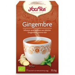 Yogi Tea Infusion Gingembre 17 infusettes produit alimentaire pour Petit-déjeuner Les Copines Bio