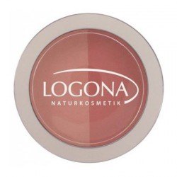 Logona Fard à joues blush duo N°2 peach 10gr maquillage bio les copines bio