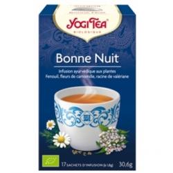 Yogi Tea Infusion Bonne Nuit 17 infusettes produit alimentaire pour préparation d'infusion Les Copines Bio
