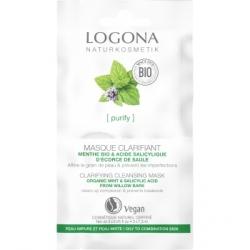 Logona Masque clarifiant menthe bio et acide salicylique 15ml produit de soin bio pour le visage Les Copines Bio