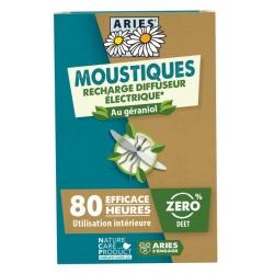 Aries Recharge diffuseur électrique, plaquettes et concentré répulsif produit Anti-insectes Les Copines Bio