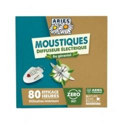 Aries Diffuseur électrique, plaquettes et concentré répulsif produit Anti-insectes Les Copines Bio