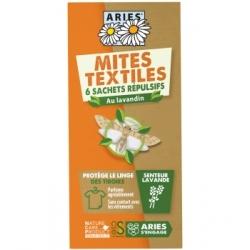 Aries Mites Textiles sachets de protection des tiroirs 6 unités produit Anti-Mites Les Copines Bio