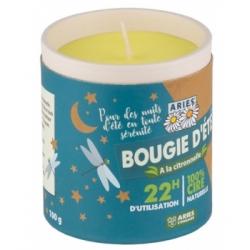 Aries Bougie d'été à la citronnelle 100gr produit pour parfum d'ambiance et senteur d'intérieur Les Copines Bio