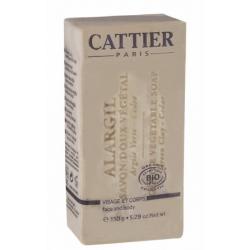 Cattier Savon Doux Végétal à l'argile Peaux Grasses 150g produit d'hygiène pour le corps Les Copines Bio